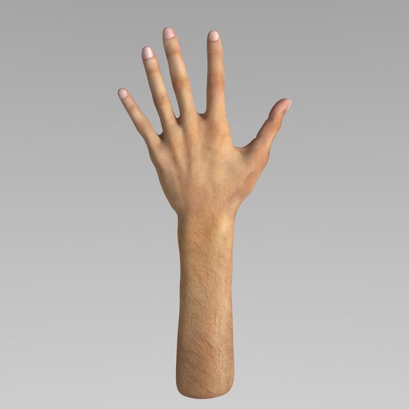 hand modelled 3D model