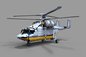 helicopter lego 3D