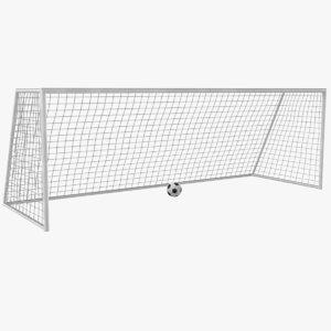 3D soccer goal model