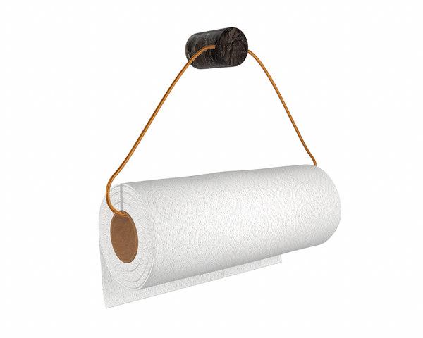 3D kitchen towel holder paper