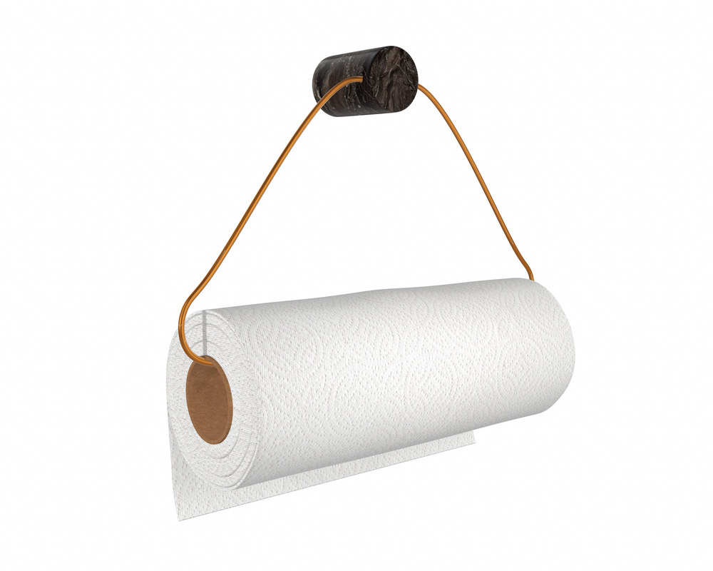 3D kitchen towel holder paper