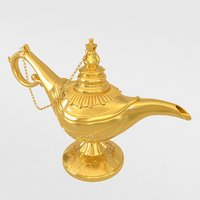 aladdin lamp 3D model