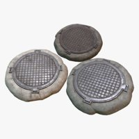 3D model pack sewer hatch