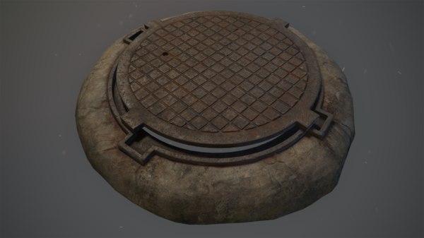 3D model pack sewer hatch