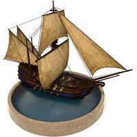 pirate games sails 3D model