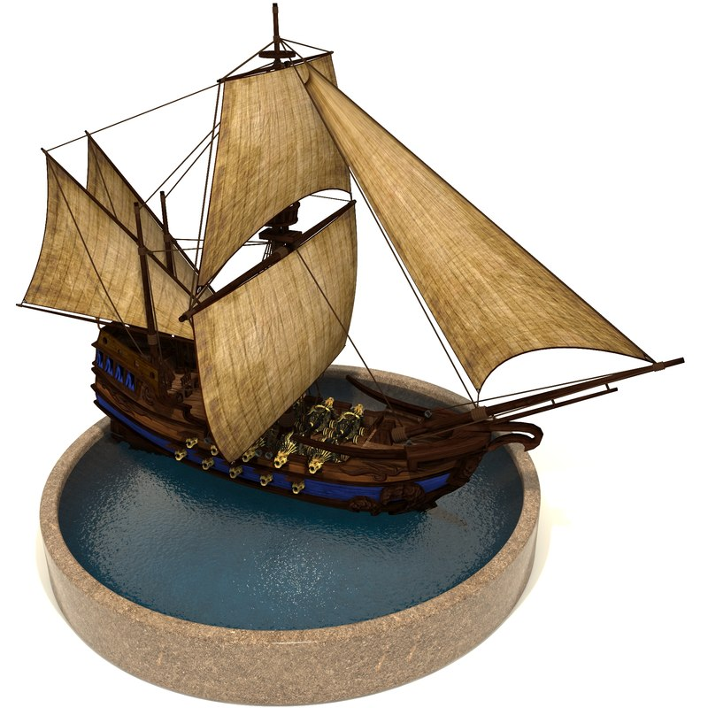 pirate games sails 3D model