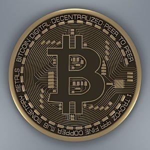 bitcoin coin 3D model