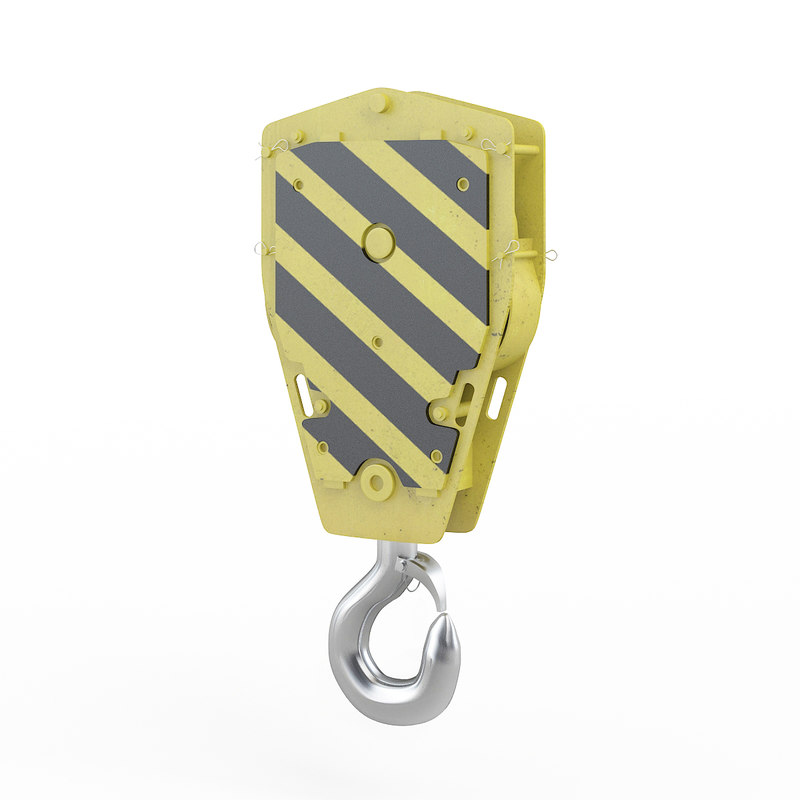crane hook 2 3D model