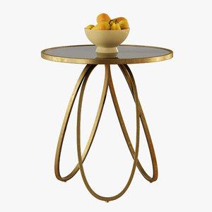 loops modern table 3D model
