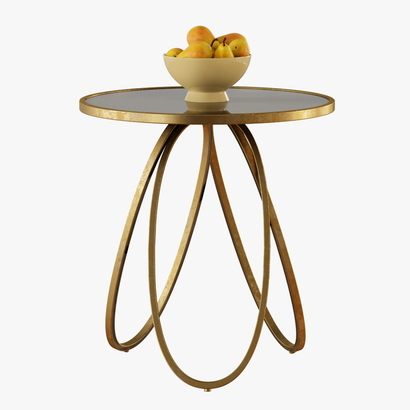 loops modern table 3D model