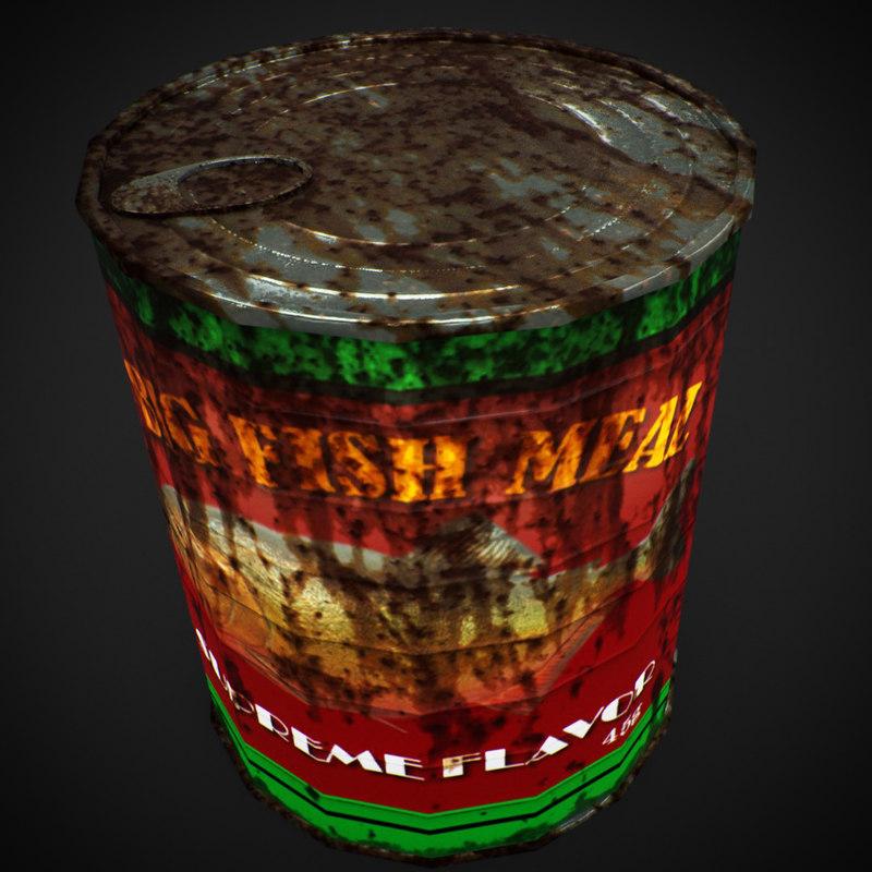3D model cannedfood asset
