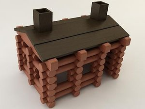 log cabin 3D