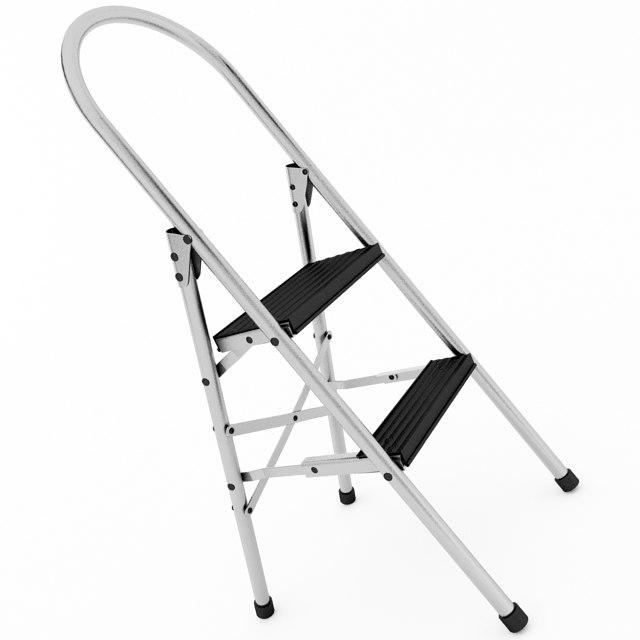 3D step ladder model