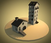 3D small cottage apartment model