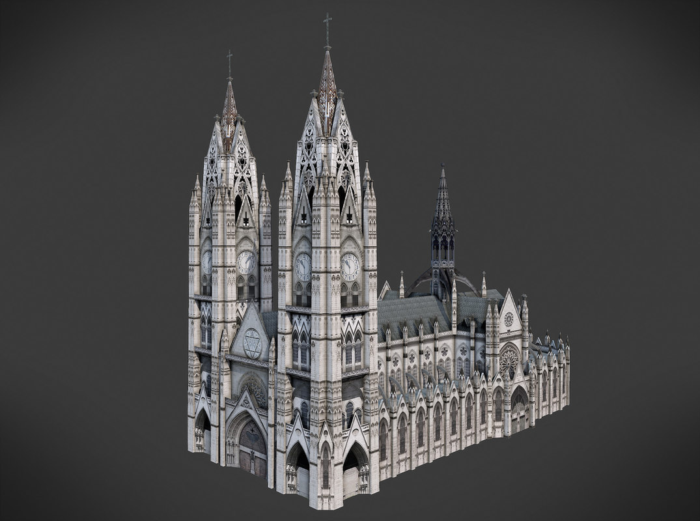 3D ecuador cathedral