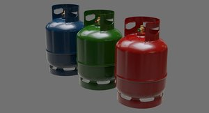 3D gas cylinder contains 1a
