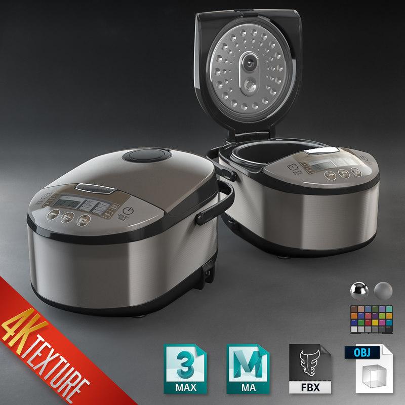 3D modern style rice cooker model