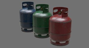3D gas cylinder contains 1b