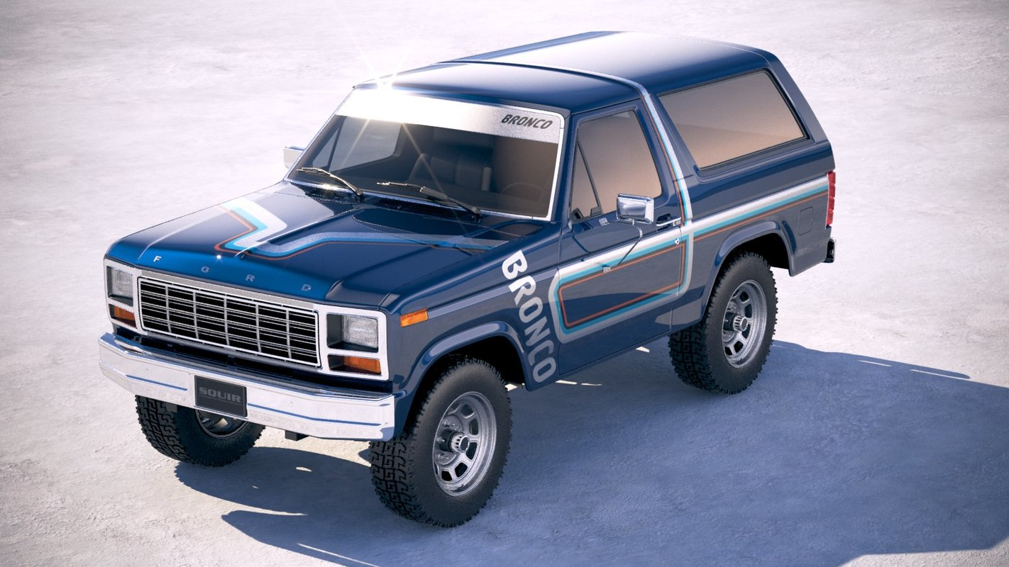 3d Bronco 1980 Model Turbosquid 1299681 Ford Blue