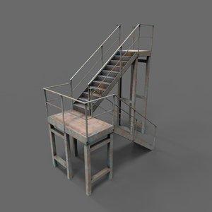 industrial stair 3D