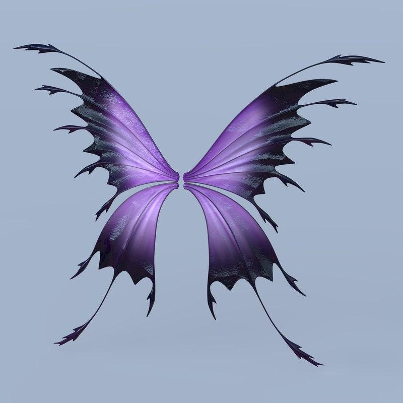 3D set fairy butterfly wings