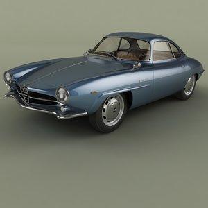 1966 alfa romeo giulia 3D