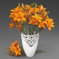 vase lilies 3D model