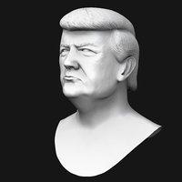 3D portrait president model