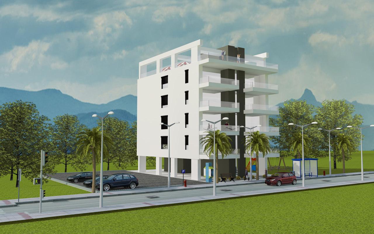 residence building model