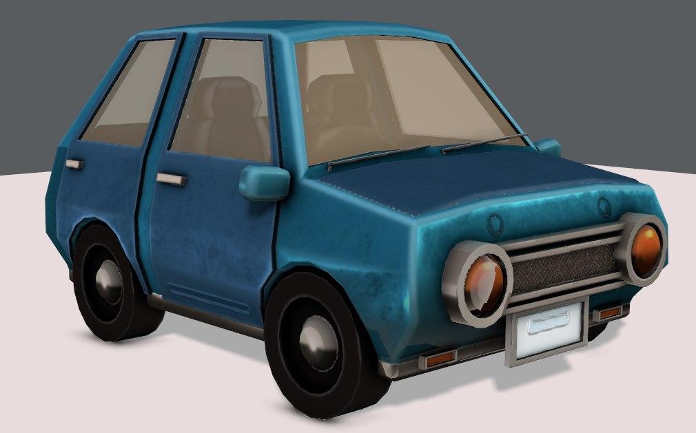 3D car cartoon toon model