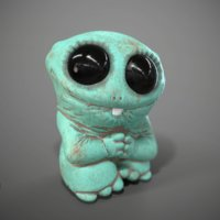 Cute Green Monster Of Clay