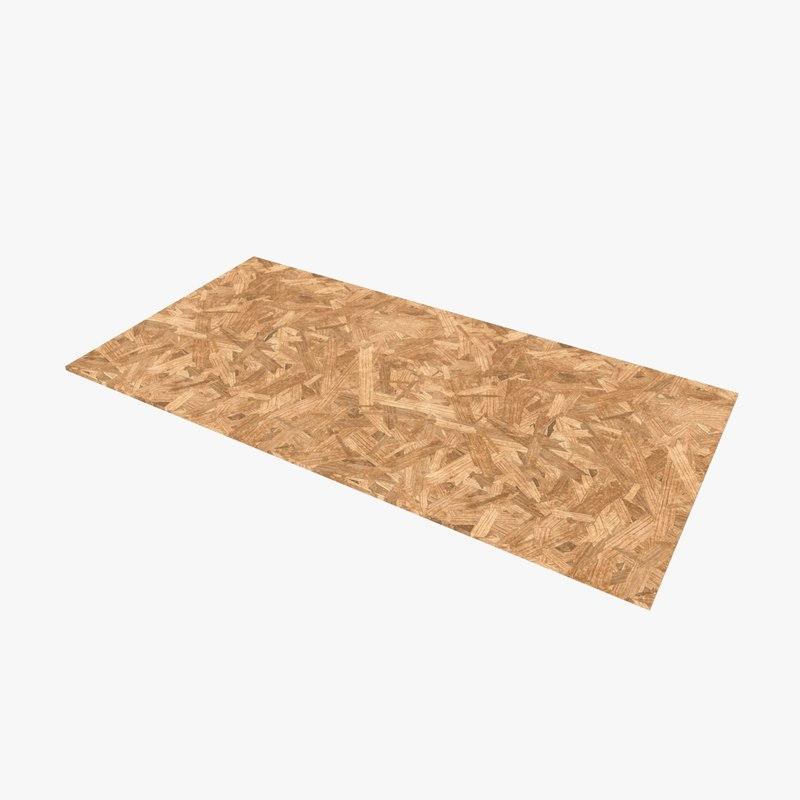 3D sheet chipboard