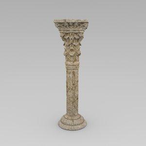 3D corinth column model