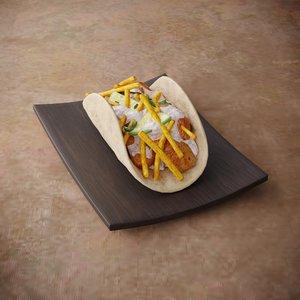 taco mexican 3D model