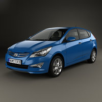 3D hyundai verna accent model