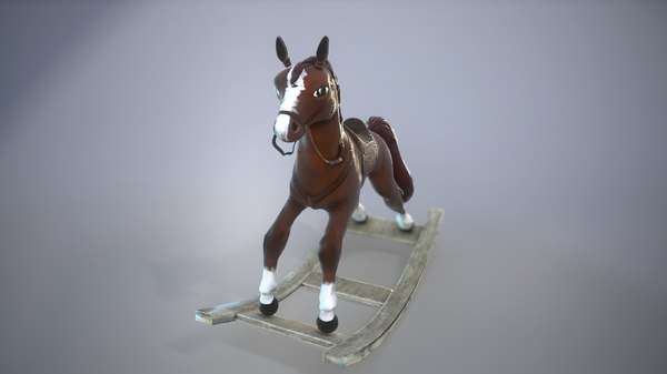 horse toy 3D