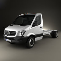 3D mercedes-benz sprinter chassis
