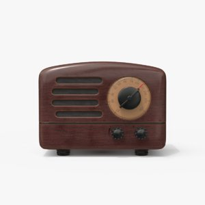 retro style bluetooth radio 3D