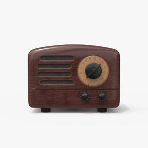 retro style bluetooth radio 3D