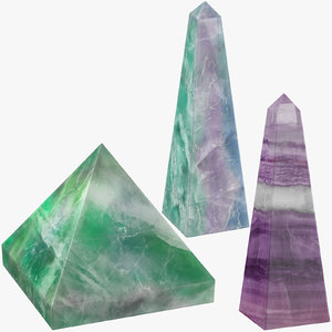 3D model magic crystals 01