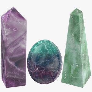 magic crystals 02 3D model
