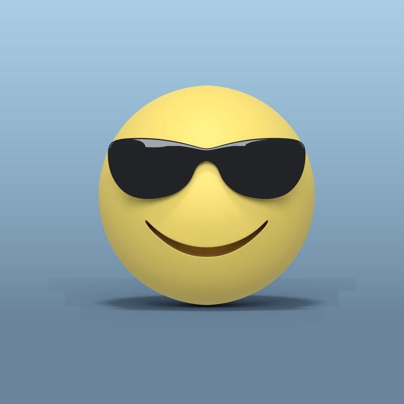 3D smiley sunglasses model