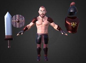 barbarian dwarf ar 3D model