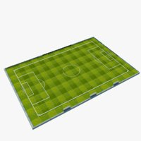 soccer pitch football model