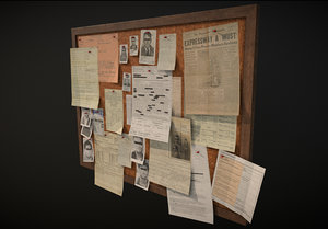 pinboard urban criminal 3D model