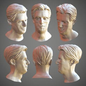 3D men hair sculpt - model