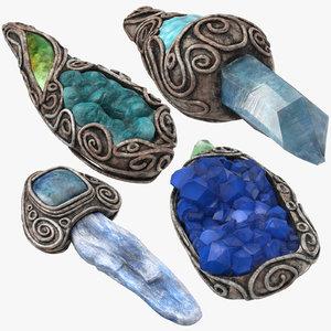 3D magic crystals 04 model