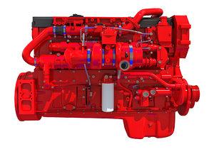 3D model truck engine
