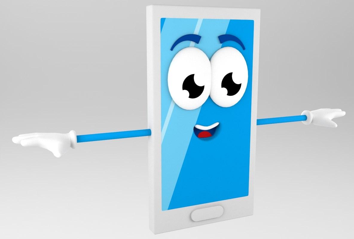 cartoon cell phone model