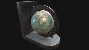 pbr globe bookends 3D model